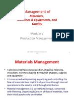 Materials Management & Maintenance Slides 109 to 145