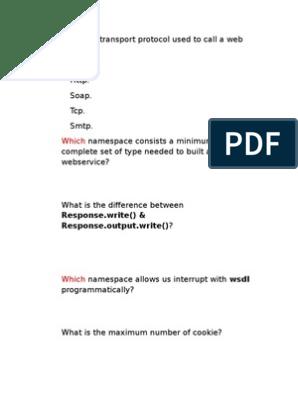 Mcq | Web Service | Active Server Pages