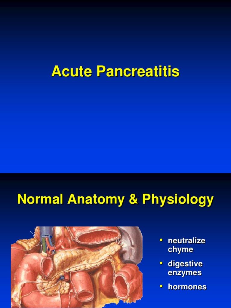 Acute Pancreatitis | Pancreas | Trypsin
