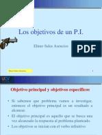SESIÓN 7 Los objetivos de un P.I.