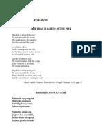 Ahmed Hamdi TANPINAR - Two poems