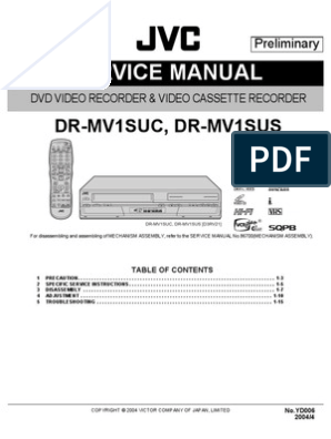 JVC DR-MV1S VCR-DVD | Electrical Connector | Alternating Current on