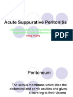 Acute Suppurative Peritonitis