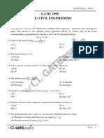 CE 1999 GATE Question Paper
