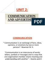 Unit 2- Communication and Advertising