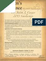 2013 Scholarship App