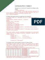 EXERCÍCIO MA 12 (Unidade 11)
