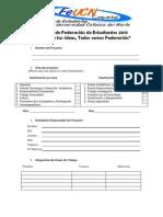 Formulario Proyecto estudiantil 2013