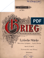 Grieg (Arr Goltermann) - Lyric Pieces for Cello and Piano