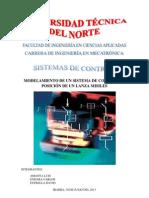 MODELAMIENTO DE UN SISTEMA DE CONTROL DE POSICIÓN DE UN LANZA MISILES.pdf
