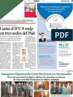 28-07-13 INAUGURA HIPOTECARIA CASA MEXICANA EN HERMOSILLO