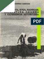 Cánovas - Lihn Zurita Lit Chilena y Experiencia Autoritaria