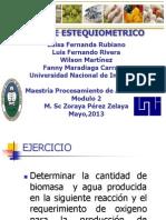 Balance Esteoquiometrico Grupo Los Colombianos