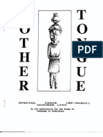 Mother Tongue Newsletter Special Issue (October 1999)