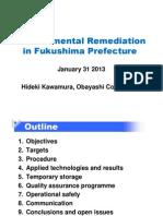 Kawamura Remediation Fukushima