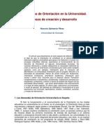 Los Servicios de Orientación en la Universidad. Procesos de Creación y Desarrollo