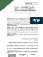 andradeAção Popular e Assembléia Popular(des)continuidadenaconstituição do catolicismo da libertação