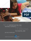 New Opportunities for Interest Driven Arts Learning in a Digital Age