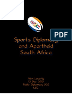 Sports Diplomacy and Apartheid South Africa