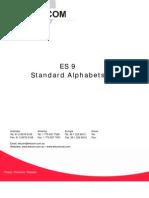 ES9-StandardAlphabets
