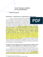 (Lido)Sobre a Crise Financas e Direitos Sociais - Ou de Propriedade - Maurizio Lazzarato