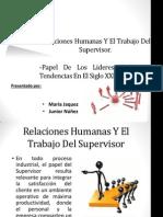 Relaciones Humanas Y El Trabajo Del Supervisor