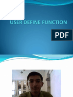 User Define Function