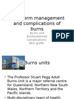 Long Term Management and Complications of Burns