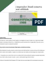 Leis do tempo do imperador_ Brasil conserva regras arcaicas e sem utilidade - Política - Diário Catarinense