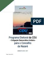 PROGRAMA ELEITORAL CDU NAZARÉ 2013