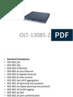 OLT 1308S 22 Especificaciones