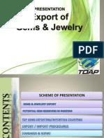 Export Procedure of Gems Jewlry