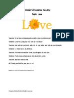 Children's Response Readings LOVE