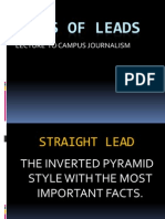 Types of Leads Journalism
