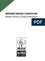 Abuelas de Plaza de Mayo - Identidad, Despojo y Restitución.