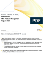 HSPA Users in RNC
