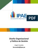 Sesión 13 Diseño organizacional y políticas de gestión