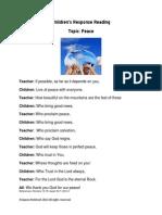 Children's Response Reading - PEACE