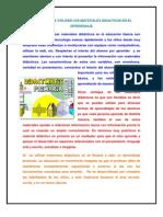 La Ventaja de Utilizar Los Materiales Didacticos en El Aprendizaje