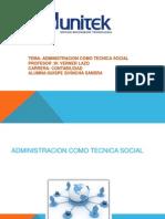 Administracion Como Tecnica Social