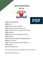 Children's Response Readings JOY