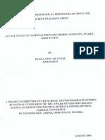 Utilisation of Geomechanical Properties of Rock for Effiecient Fragmentation