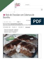 Bolo de Chocolate Com Cobertura de Baunilha - Dieta Dukan Receitas