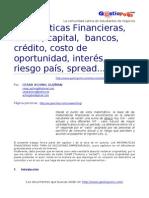 Matematicas Financieras (Dinero, Capital, Bancos, Interes Riesgo)