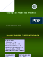 Fisiologia Motilidada Intestinal