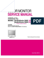 Service Manual - LG Monitor - 500E-G - Chassis CA-133