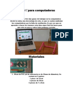 Soporte de PVC Para Computadoras Portatiles