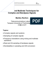Sampling and Multirate Techniques (Renfors)