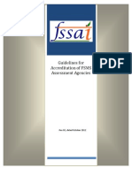 FSSAI Guidelines for Accreditation of Fsms Assessment Agencies