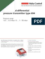 694 Pressure Sensor Huba